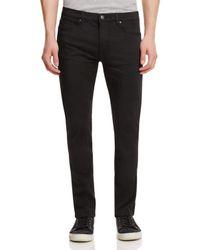 HUGO - Satin Stretch Denim Super Slim Jeans In Black for Men - Lyst