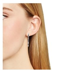 kate spade new york - Metallic Infinity And Beyond Hoop Earrings - Lyst