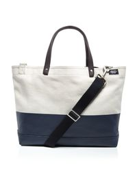 Jack Spade - Blue Coal Dipped Canvas Tote Bag - Lyst