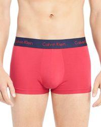 Calvin Klein - Red Body Modal Trunks for Men - Lyst