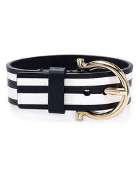 Ferragamo | Black Gancini Buckle Bracelet | Lyst