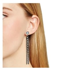 DANNIJO - Metallic Riviera Drop Earrings - Lyst