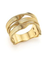 Marco Bicego | Metallic 18k Yellow Gold Marrakech Supreme Three Strand Twisted Ring | Lyst