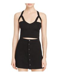 Groceries Apparel - Black Coyaba Crop Top - Lyst