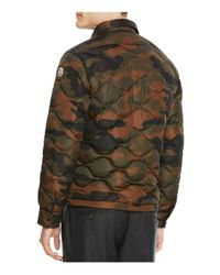 Moncler Goose Nambour Camo Quilted Down Jacket In Green