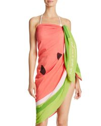 kate spade new york - Multicolor Watermelon Oversized Pareo Scarf - Lyst