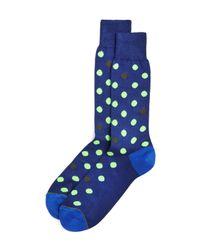 Paul Smith - Blue Neon Spot Socks for Men - Lyst