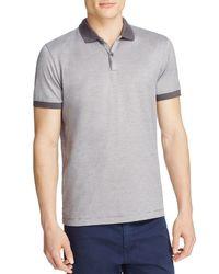 BOSS - Gray Penrose Slim Fit Stripe Polo for Men - Lyst