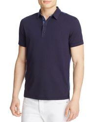 BOSS Orange - Blue Pyntax Slim Fit Polo for Men - Lyst