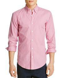 BOSS - Pink Rodney Gingham Slim Fit Button Down Shirt for Men - Lyst