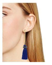 Aqua - Blue Brette Tassel Drop Earrings - Lyst