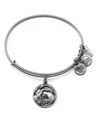 ALEX AND ANI - Metallic Team Usa Swimming Expandable Wire Bangle - Lyst
