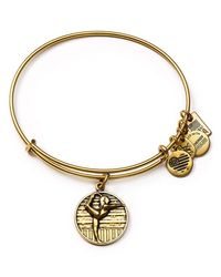 ALEX AND ANI - Metallic Team Usa Gymnastics Expandable Wire Bangle - Lyst