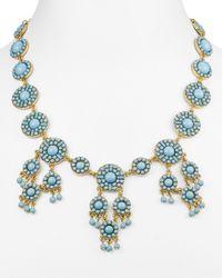 "BaubleBar - Blue Sundrop Bib Necklace, 17"" - Lyst"