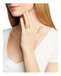 BaubleBar - Metallic Perforated Ring - Lyst