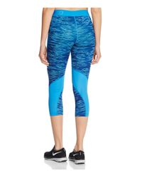 Nike - Blue Pro Hypercool Reflect Capri Leggings - Lyst