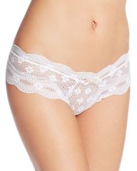 Eberjey | White India Lace Low-rise Boy Thong #u455bt | Lyst