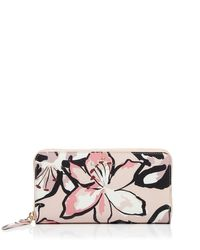 kate spade new york - Multicolor Hawthorne Lane Floral Lacey Continental Wallet - Lyst