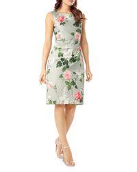 Phase Eight - Green Meadow Print Sheath Dress - Lyst