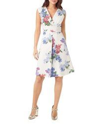 Phase Eight - Multicolor Lilac Flower A-line Dress - Lyst