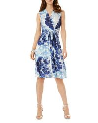 Phase Eight - Blue Isabella Rose Print Jersey Dress - Lyst
