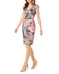Phase Eight - Multicolor Lidia Floral Print Faux Wrap Dress - Lyst