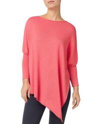 Phase Eight - Pink Melinda Asymmetric Knit Top - Lyst