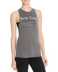Project Social T - Gray Ny Don't Bother Me Tank - Lyst