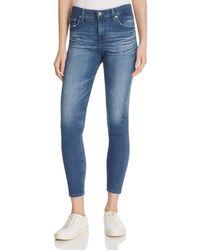 AG Jeans - Blue Farrah Skinny Crop Jeans In 13 Years Warm Breeze - Lyst