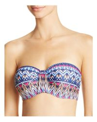 Blush By Profile | Blue Saltwater D Cup Bandeau Bikini Top | Lyst