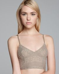 Free People | Natural Bra - Lace Cropped Bustier | Lyst