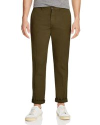 PS by Paul Smith - Green Pima Cotton Slim Fit Chinos for Men - Lyst