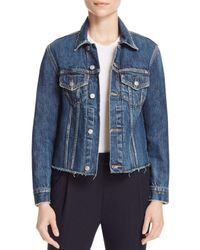 Vince - Blue Raw-edge Denim Jacket - Lyst