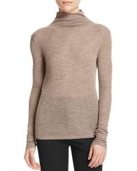 Vince - Natural Funnel Neck Sweater - Lyst