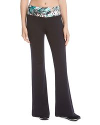 Karen Kane - Black Printed Waist Flared Pants - Lyst