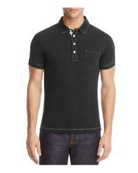 Billy Reid | Black Pensacola Slim Fit Polo Shirt for Men | Lyst
