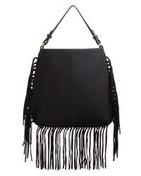 Moda Luxe - Black Carmel Fringe Hobo Bag - Compare At $90 - Lyst