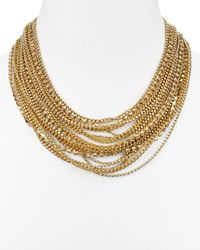 "ABS By Allen Schwartz - Metallic Statement Necklace, 16"" - Lyst"