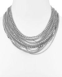 """ABS By Allen Schwartz - Metallic Statement Necklace, 16"""" - Lyst"""