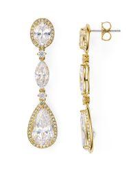 Nadri | Metallic Oval Drop Earrings | Lyst