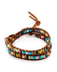 Chan Luu   Brown Beaded Wrap Bracelet   Lyst