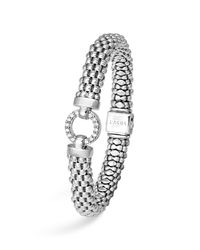 Lagos | Metallic Sterling Silver Enso Rope Bracelet With Diamonds | Lyst