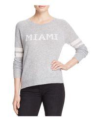 Aqua | Gray Cashmere Miami Crewneck Cashmere Sweater - 100% Exclusive | Lyst