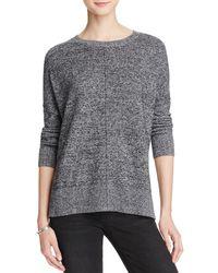 Aqua | Gray Cashmere Front Seam Drop Shoulder Cashmere Sweater - 100% Exclusive | Lyst