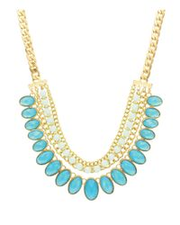 Sparkling Sage - Blue Stone Lined Statement Necklace - Compare At $117 - Lyst