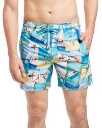 Vilebrequin | Blue Mahina Vintage Swim Trunks for Men | Lyst