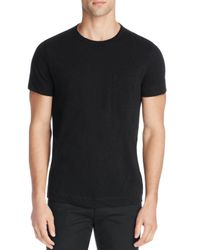 Theory - Black Nebulous Cotton Pocket Tee - 100% Bloomingdale's Exclusive for Men - Lyst