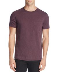 Theory - Purple Nebulous Cotton Pocket Tee - 100% Exclusive for Men - Lyst