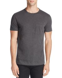 Theory - Gray Nebulous Cotton Pocket Tee - 100% Exclusive for Men - Lyst