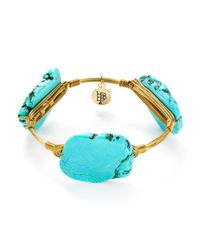 Bourbon and Boweties | Blue Howlite Bangle | Lyst